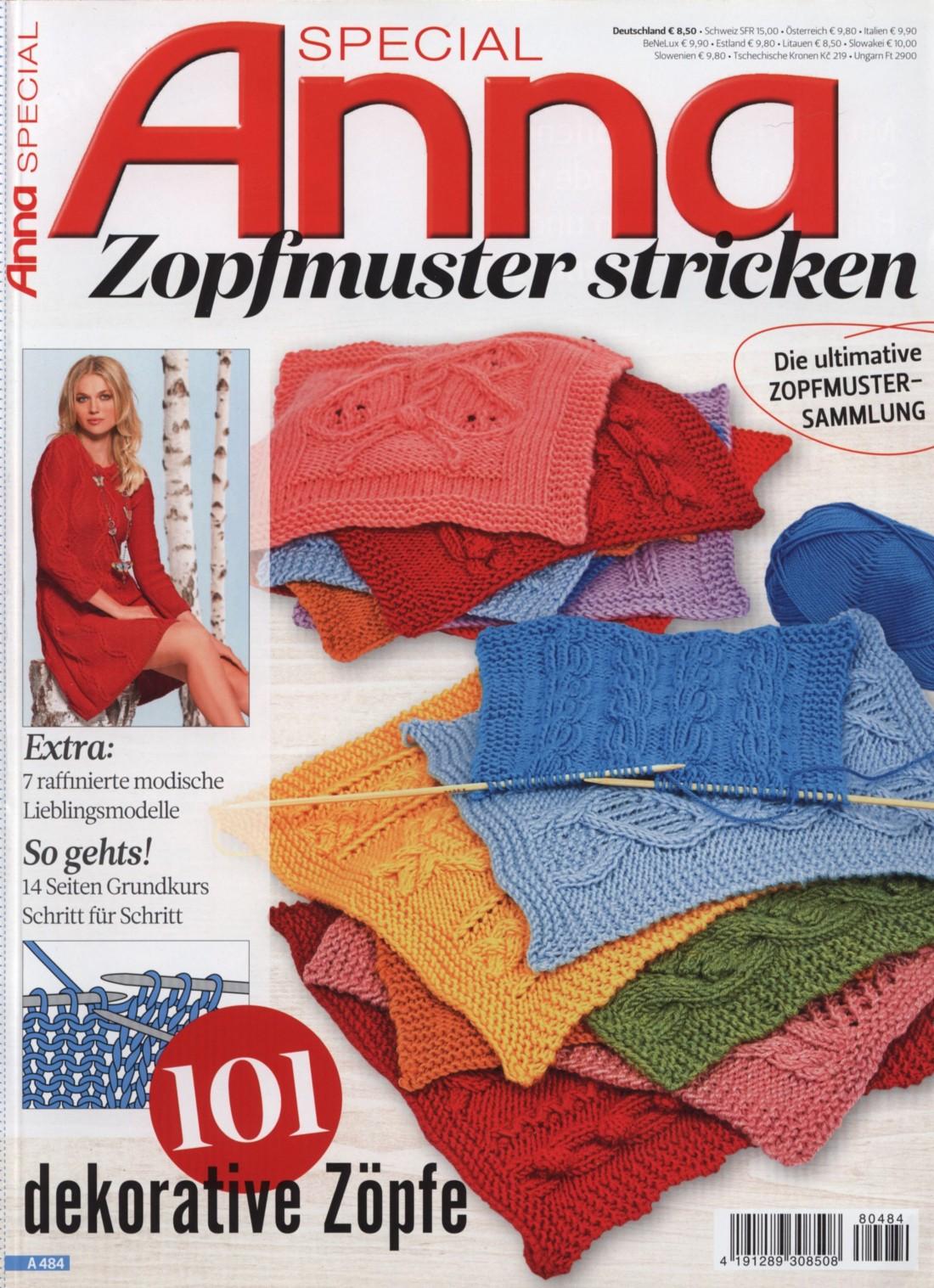 Журнал по вязанию » Anna Special» A 484 — Zopfmuster Stricken 2018
