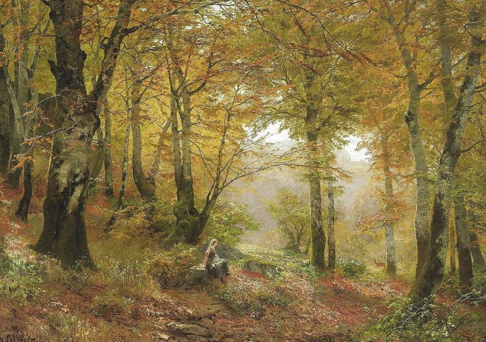 1-Heinrich-Bohmer-GERMAN-1852-1930A-woodland-glade.jpg